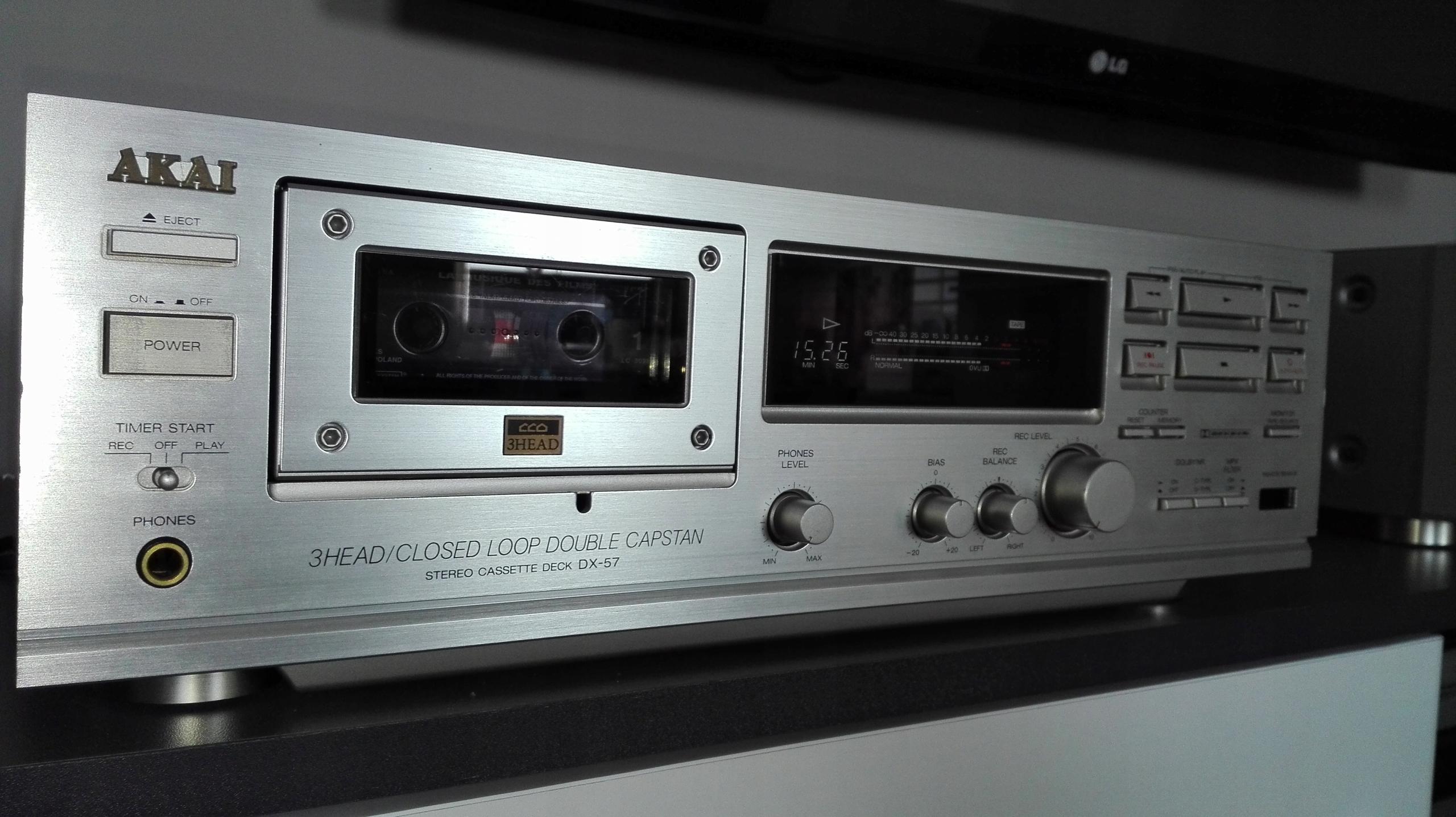 Magnetofon AKAI DX-57 WYSOKA PÓŁKA