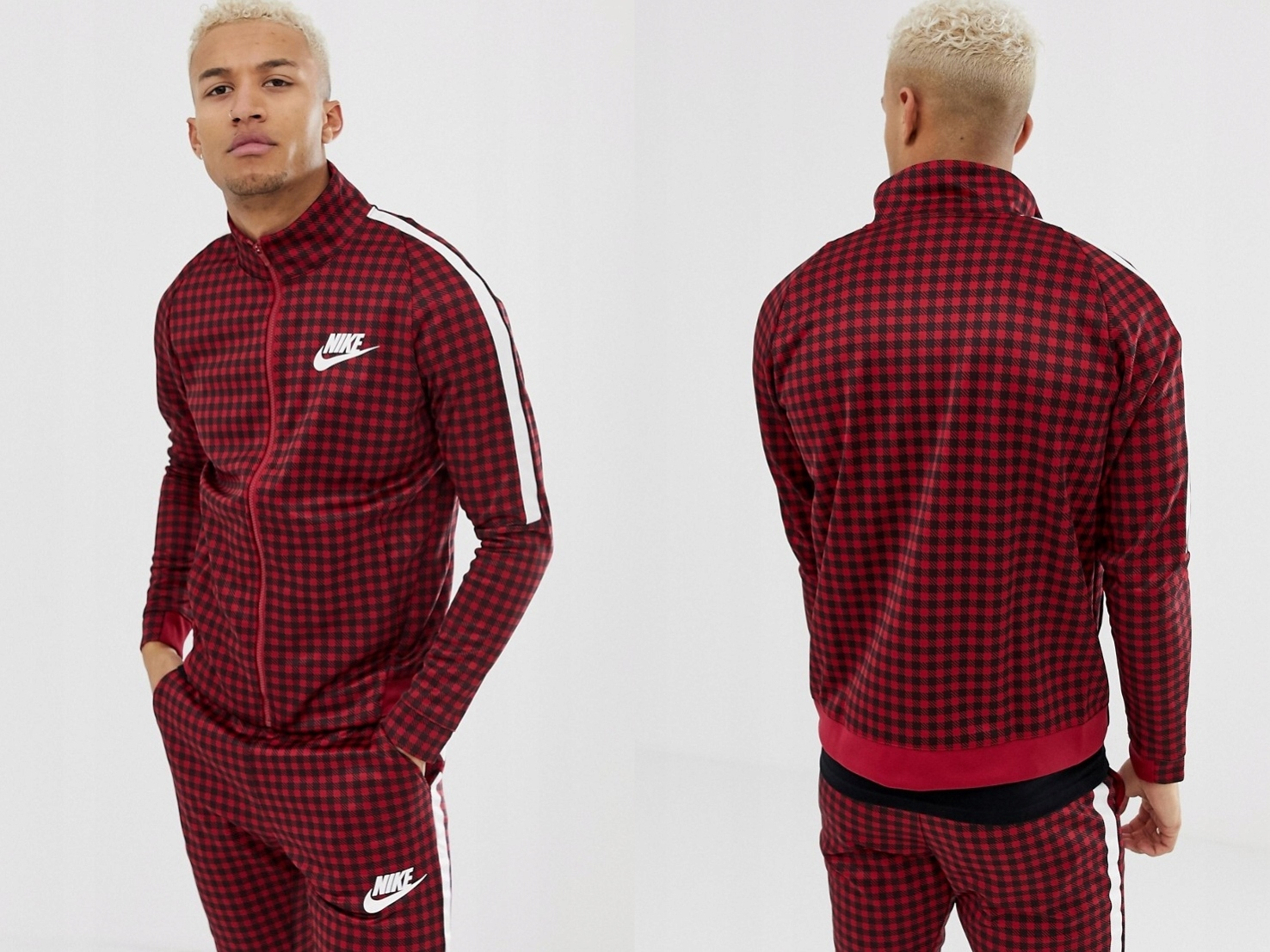 Nike - BQ0675-618 czerwona bluza dresowa M