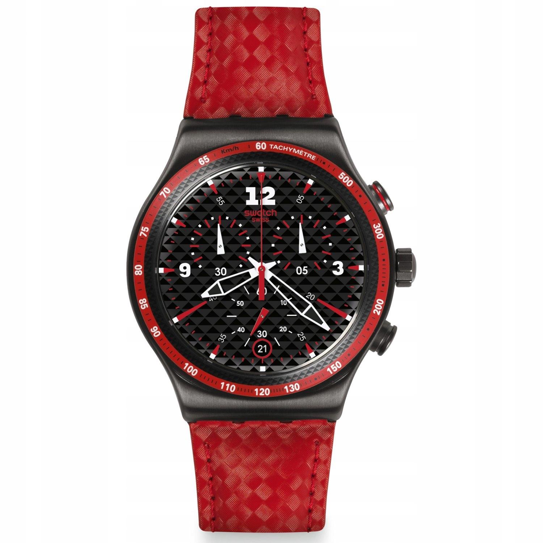 Zegarek SWATCH YVM401 czerwony