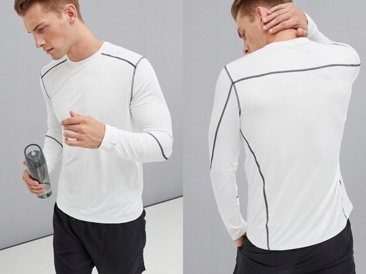 New Look Biała Elastyczna Bluzka Sportowa M