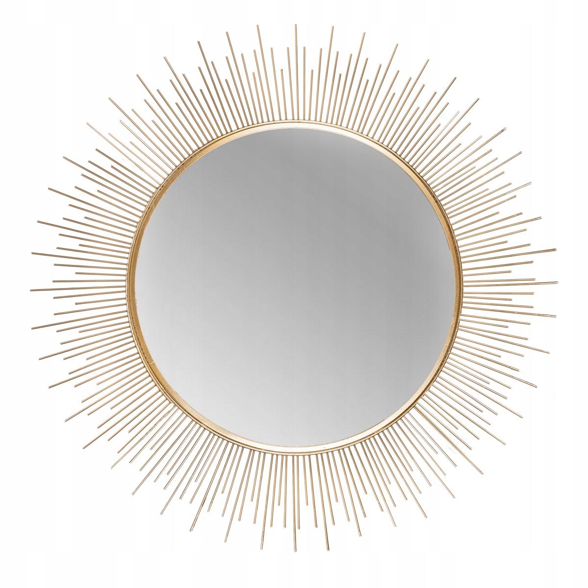 Lustro ścienne Dekoracyjne Słoneczko Złote 40 Cm