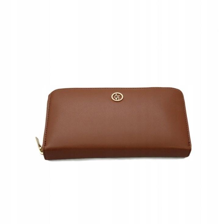 Armani Jeans karmelowy długi portfel