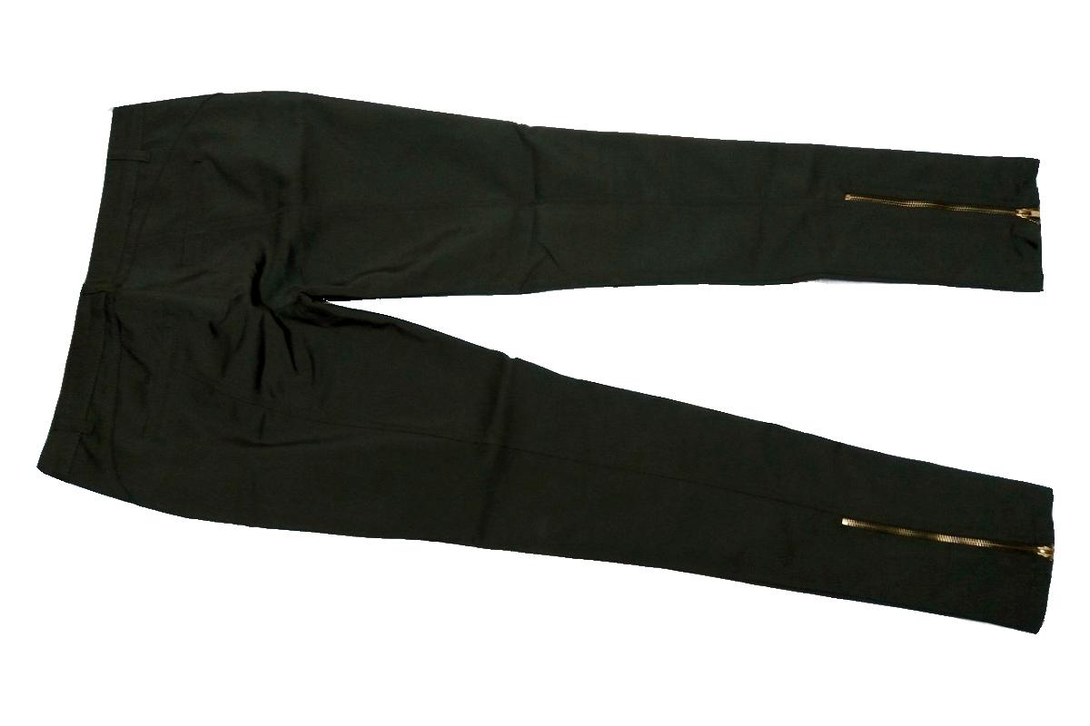 Bershka spodnie zieleń militarna rurki 38