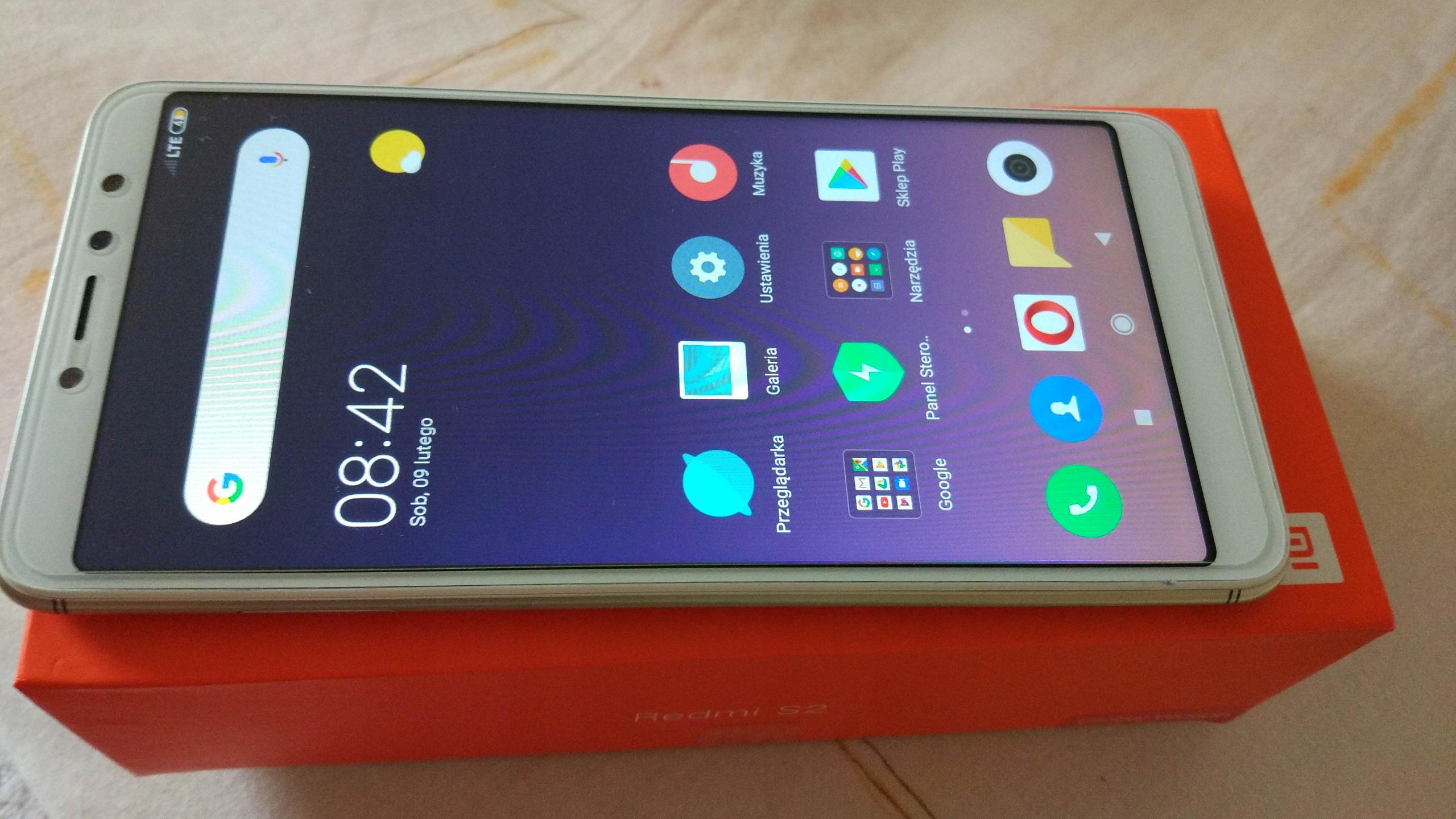 Xiaomi Redmi S2 3/32 Global LTE B20 złoty szkło H9