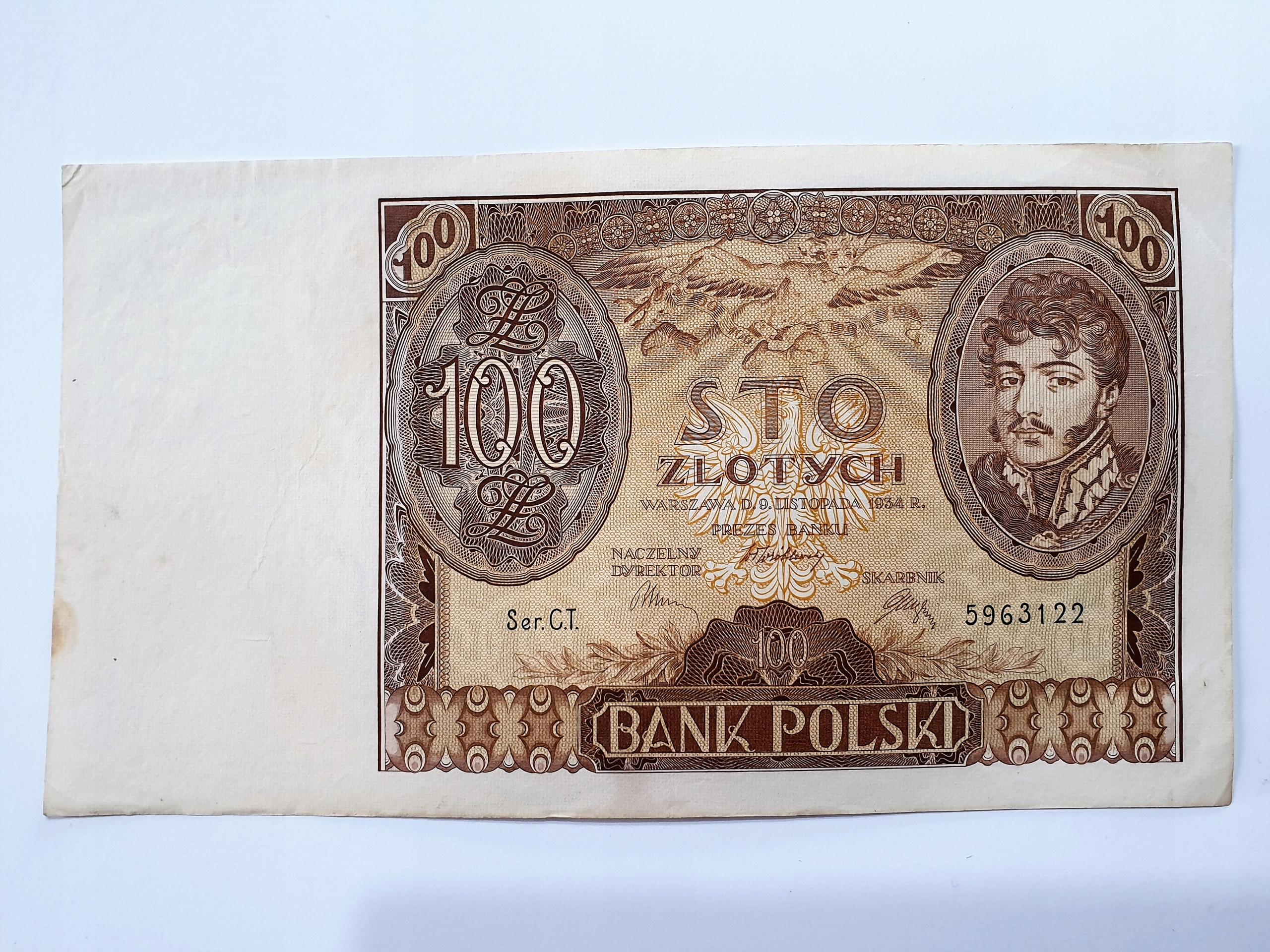 ŁADNY BANKNOT 100 ZŁ 1934 NO2