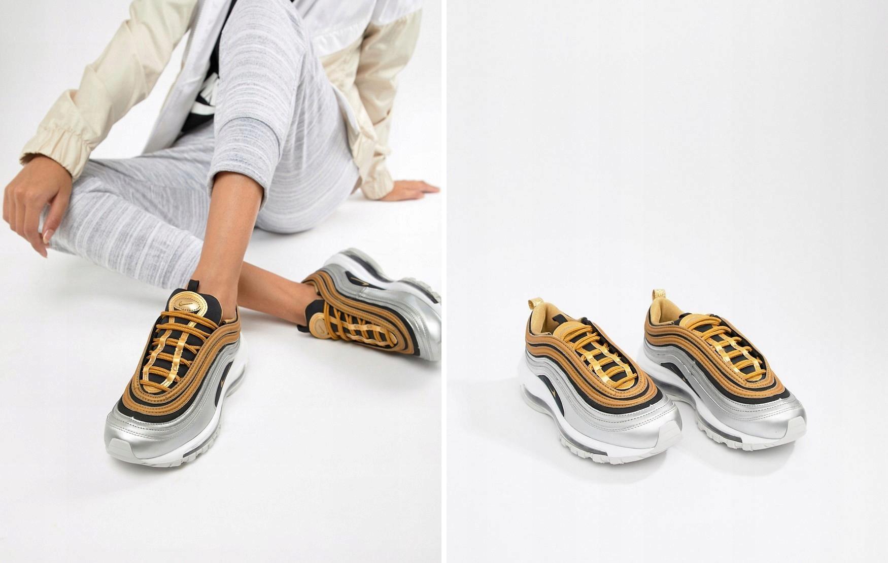 buty nike air max 97 złote