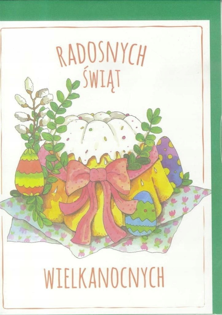 Karnet B6 Wielkanoc Babka