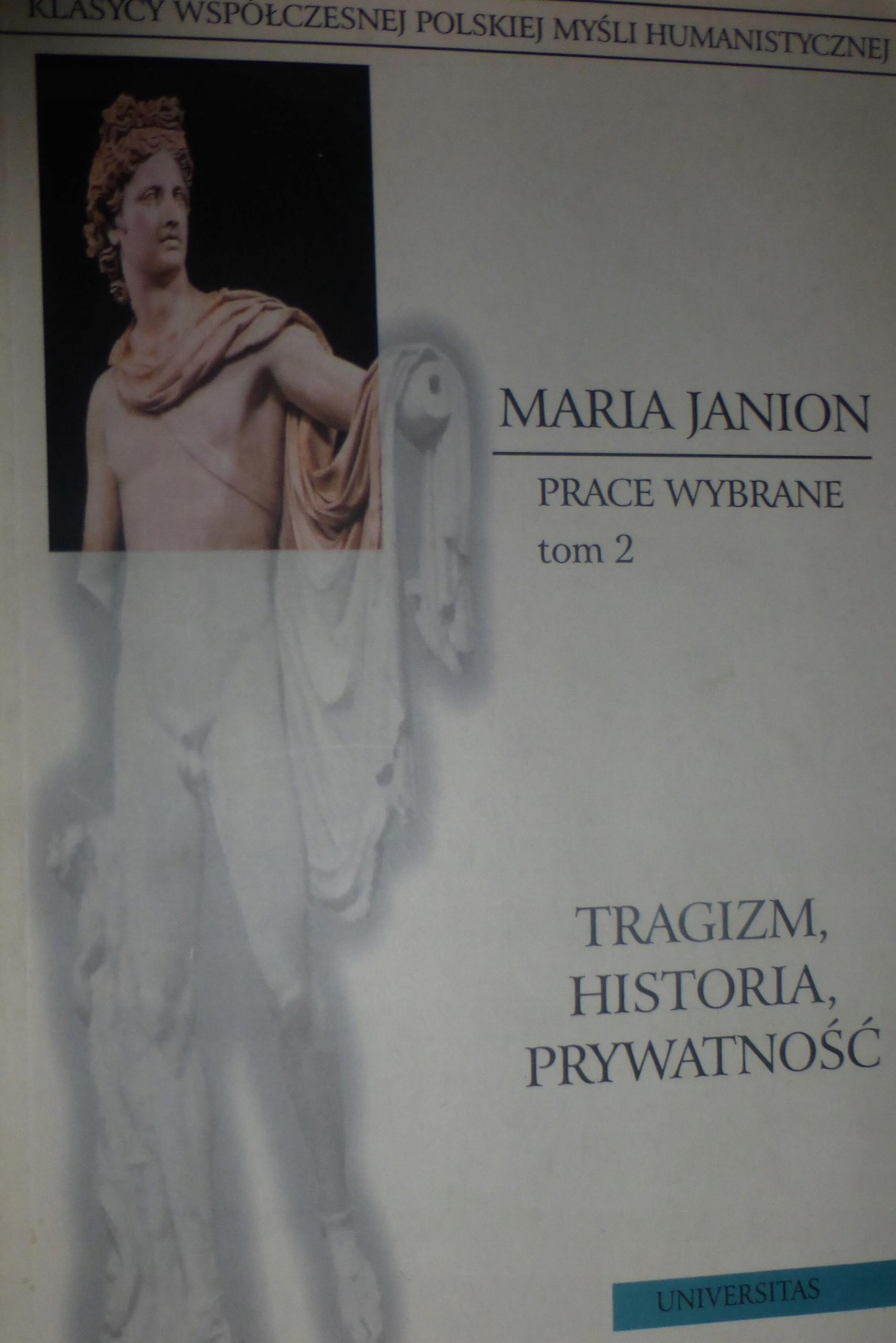 TRAGIZM HISTORIA PRYWATNOŚĆ t.2 Janion