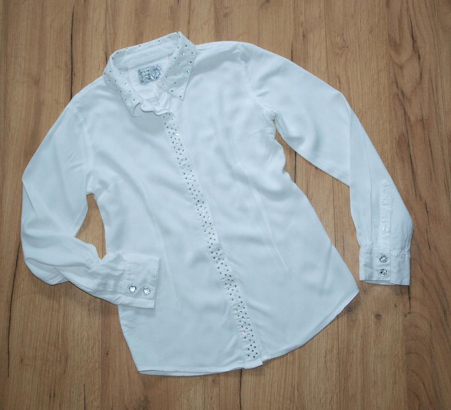 5 10 15 biała bluzka koszulowa 140