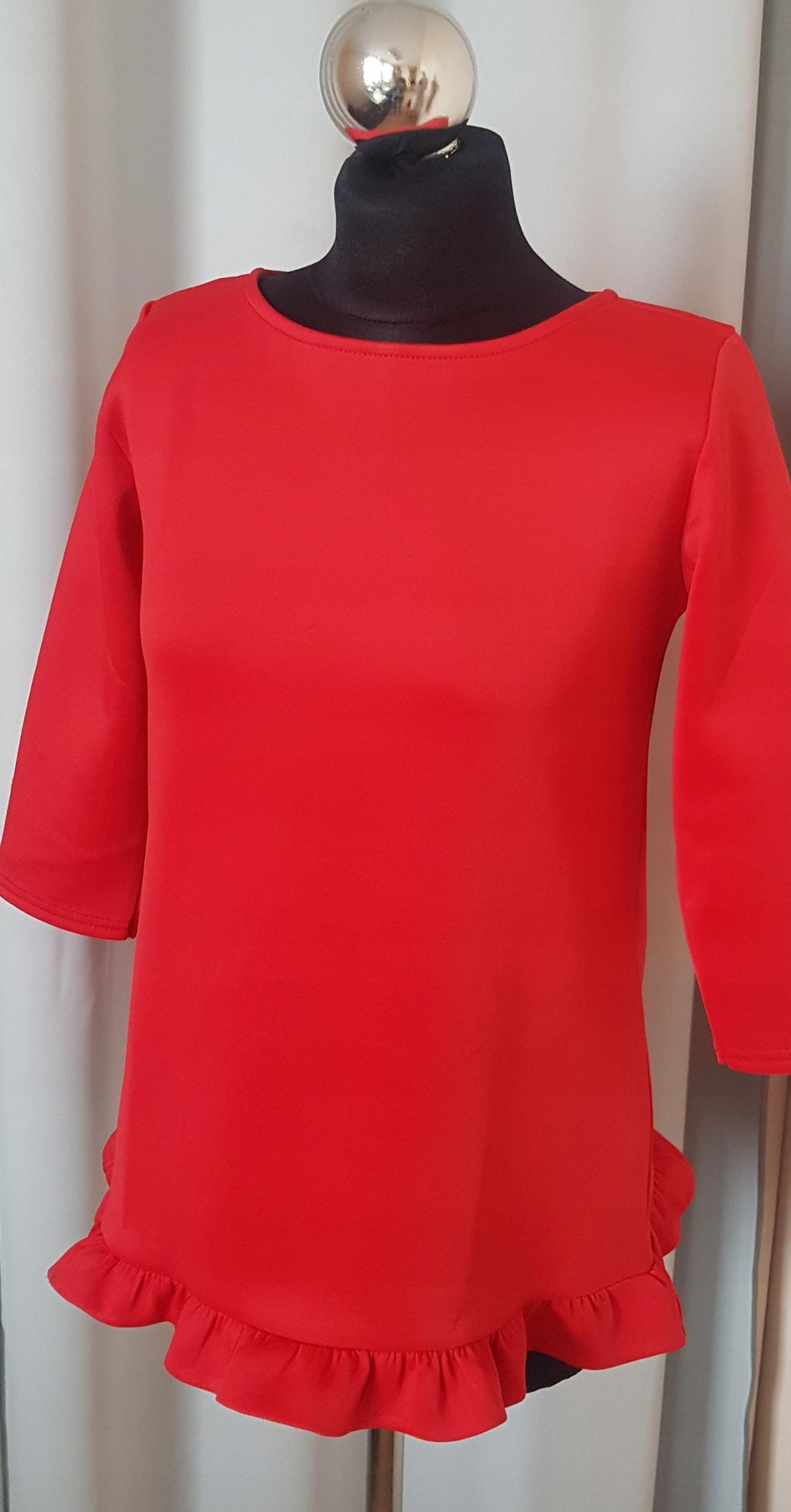 Bluza RESERVED 38 M czerwona oversize piękna