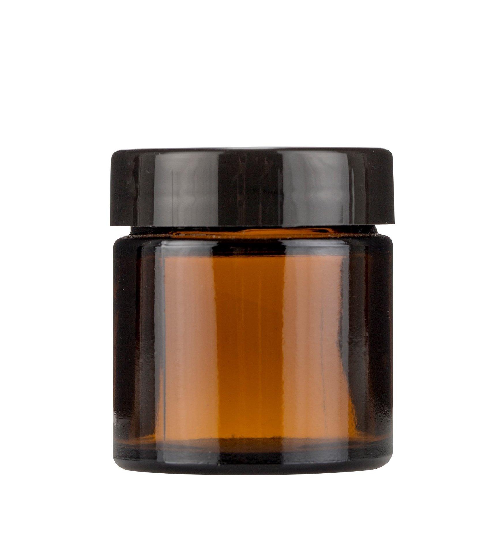 słoik SŁOICZEK szklany brązowy ciemne szkło 60ml