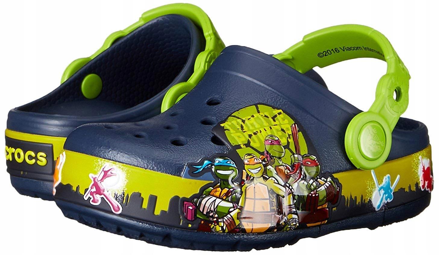 Crocs Crocslights tmnt II C13 świecą Żółwie Ninja