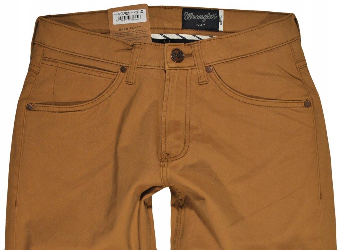 WRANGLER spodnie MODERN slim brown BOSTIN W36 L34