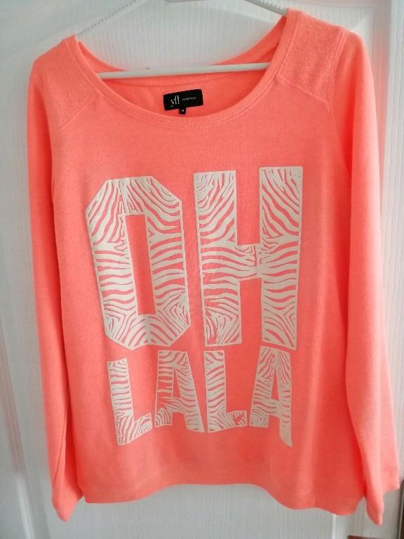 bluza Reserved 38 m neon long pomarańczowa