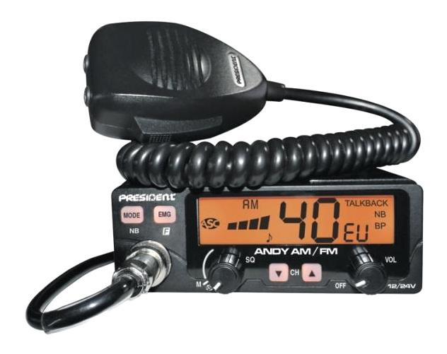 CB RADIO CB PRESIDENT ANDY ASC AM FM [F802