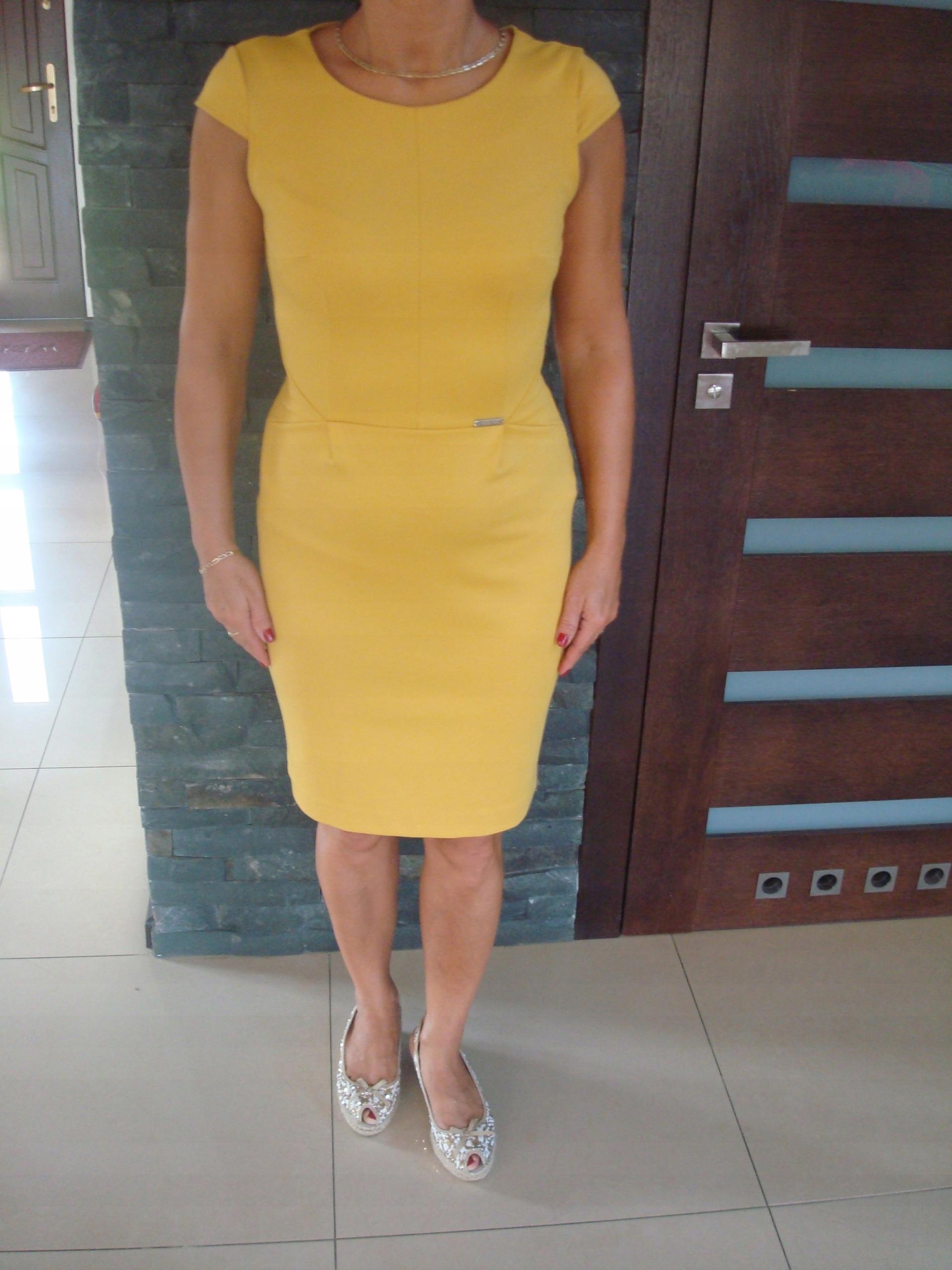 4384e722bd Jak nowa ołówkowa sukienka PRETTY GIRL roz. M - 7526233275 ...