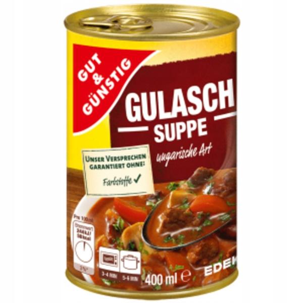 GUT&GUNSTIG ZUPA GULASZOWA WĘGIERSKA 400ML.