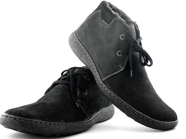 ca4b280937cd6 MĘSKIE OCIEPLANE trzewiki SKÓRZANE obuwie r. 44 - 7210490622 ...