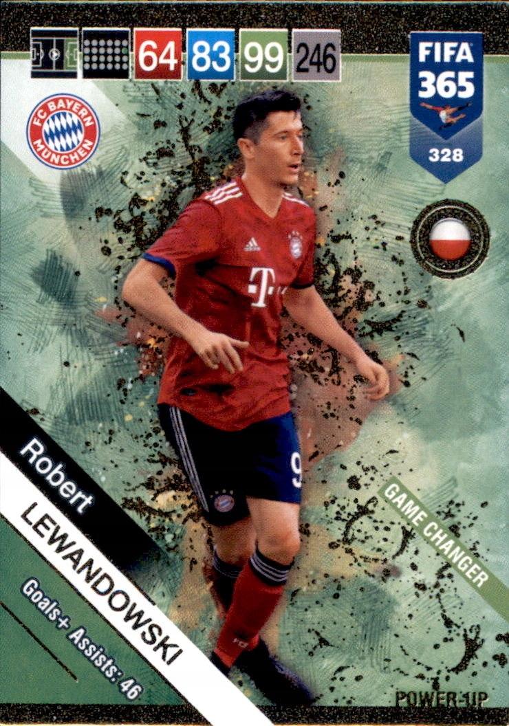 PANINI FIFA 365 2019 GAME CHANGER 328 LEWANDOWSKI