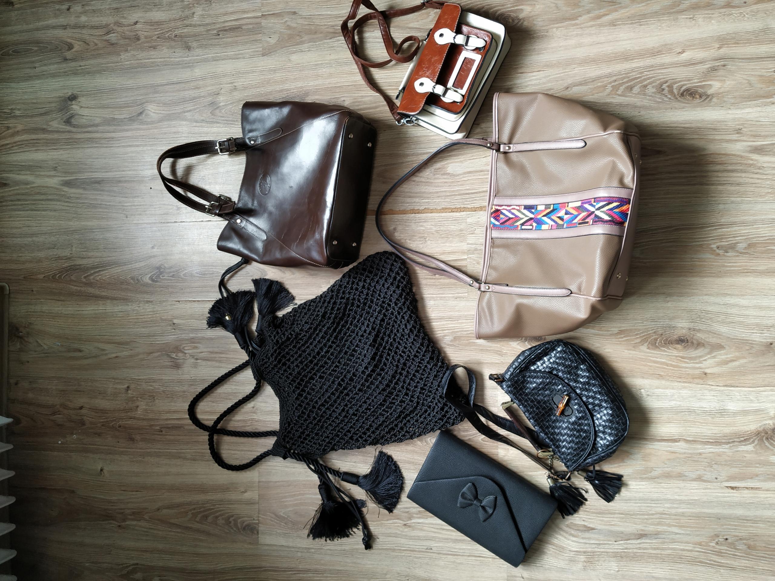 zestaw 6 torebek torebki boho aztec kopertówka