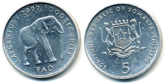 Somalia 5 Shillings - 2000r FAO ... Monety