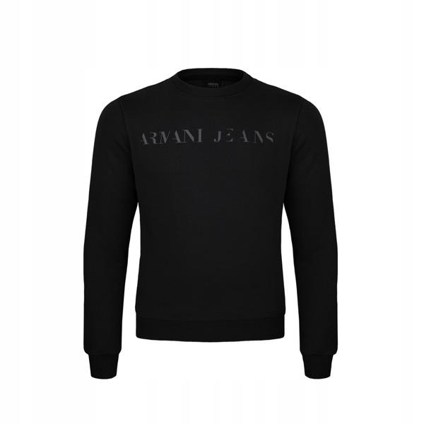 ARMANI JEANS czarna bluza męska EA70 r. XL