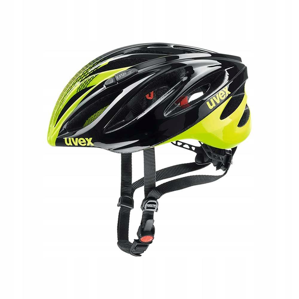 Kask rowerowy Uvex Boss Race black-neon y. 55-60cm