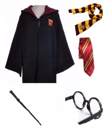HARRY POTTER SZATA ZESTAW HALLOWEEN COSPLAY