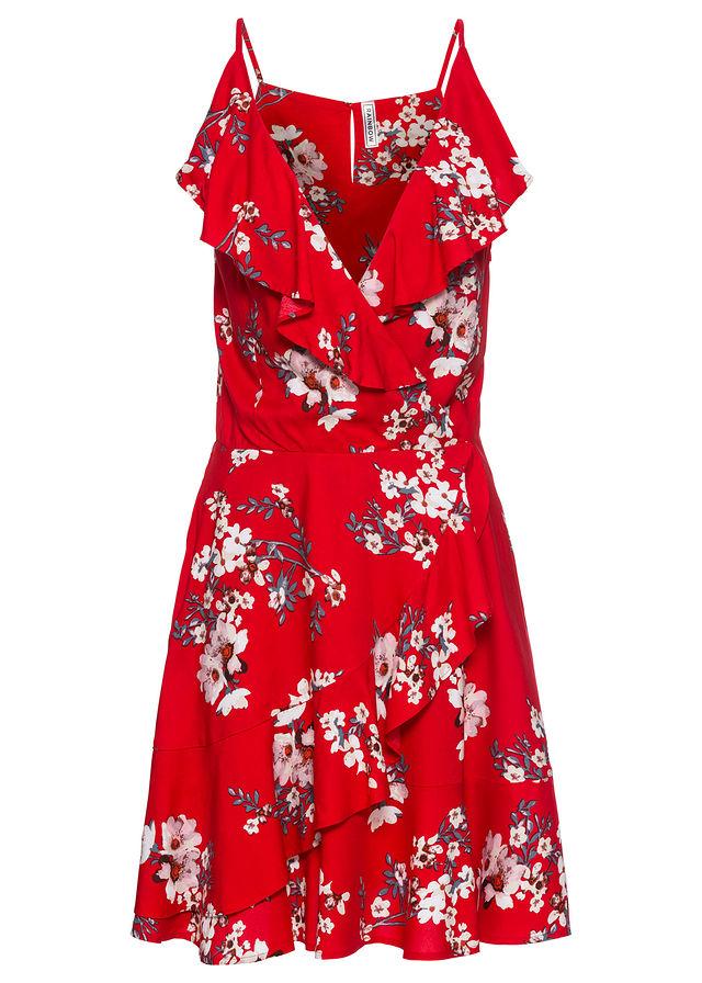 3f6385c9 Sukienka z falbanami czerwony 32 926902 bonprix - 7320235187 ...