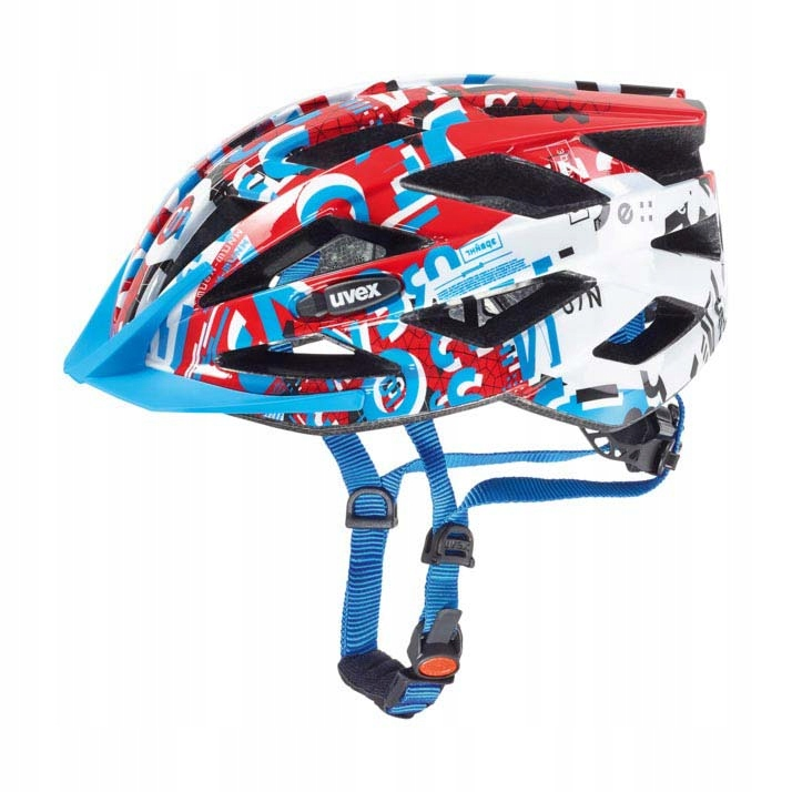 Kask rowerowy UVEX AIR WING 52-57cm white red blue