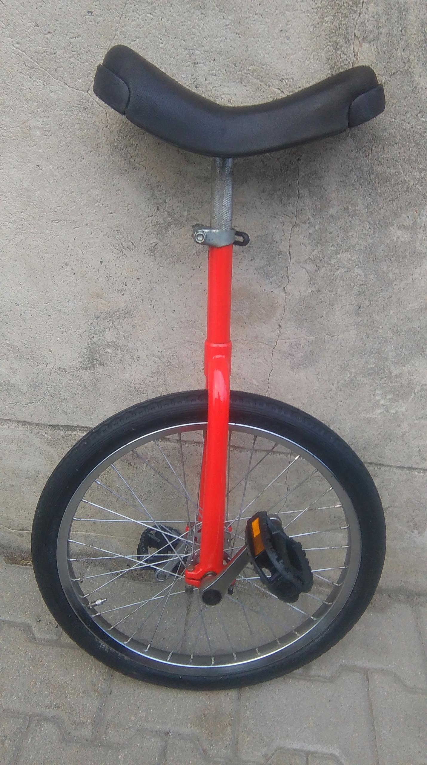 """Rower jednokołowy monocykl 20"""" OK czerwony"""