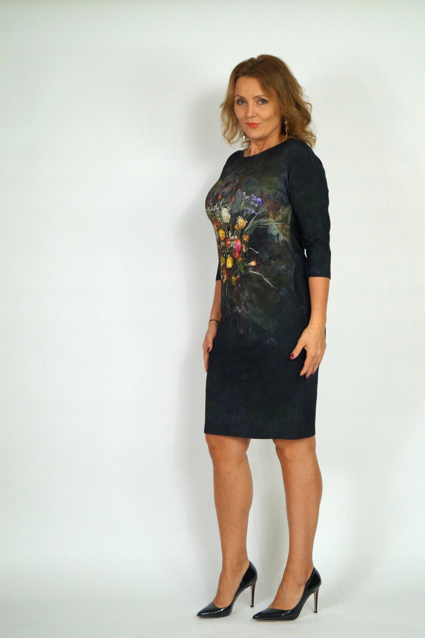 911c0651657346 ALEKS sukienka WENUS 48 zmysłowa grafika - 7041316582 - oficjalne ...