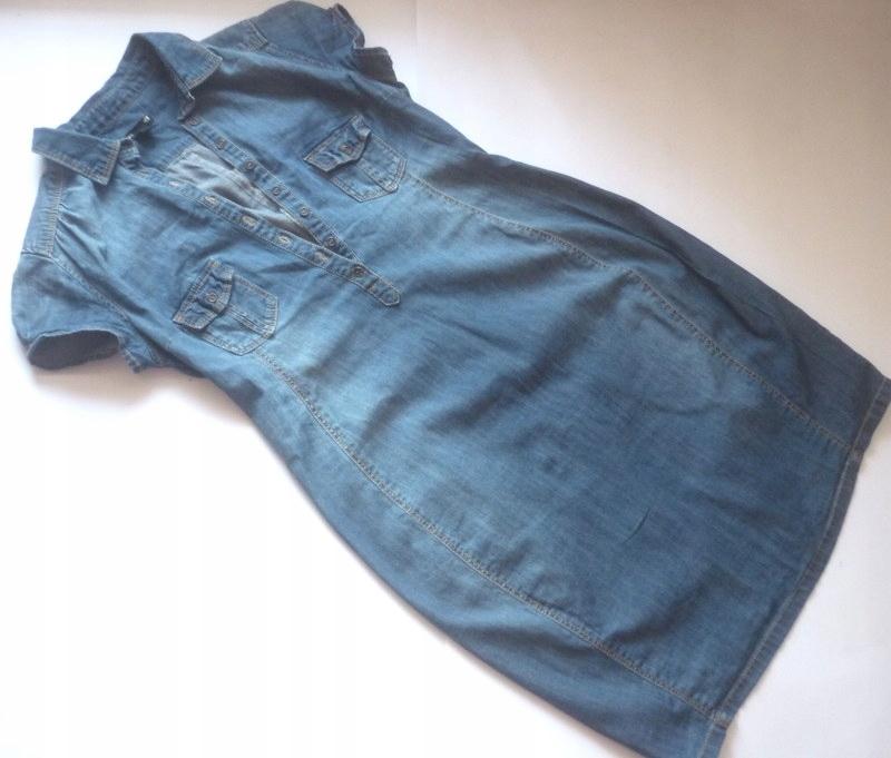 H&M MAMA*SUKIENKA mięciutki jeans*rozm.S