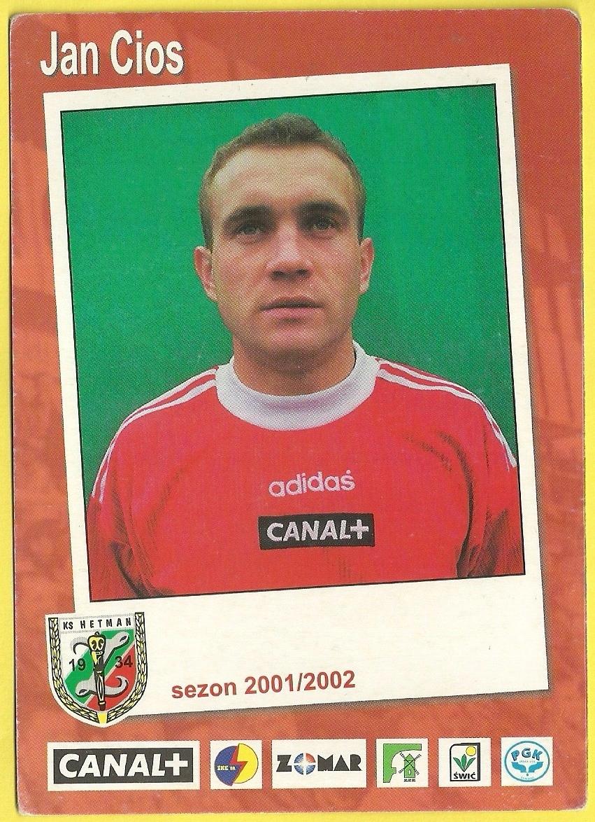 Jan Cios Hetman Zamość sezon 2001/2002