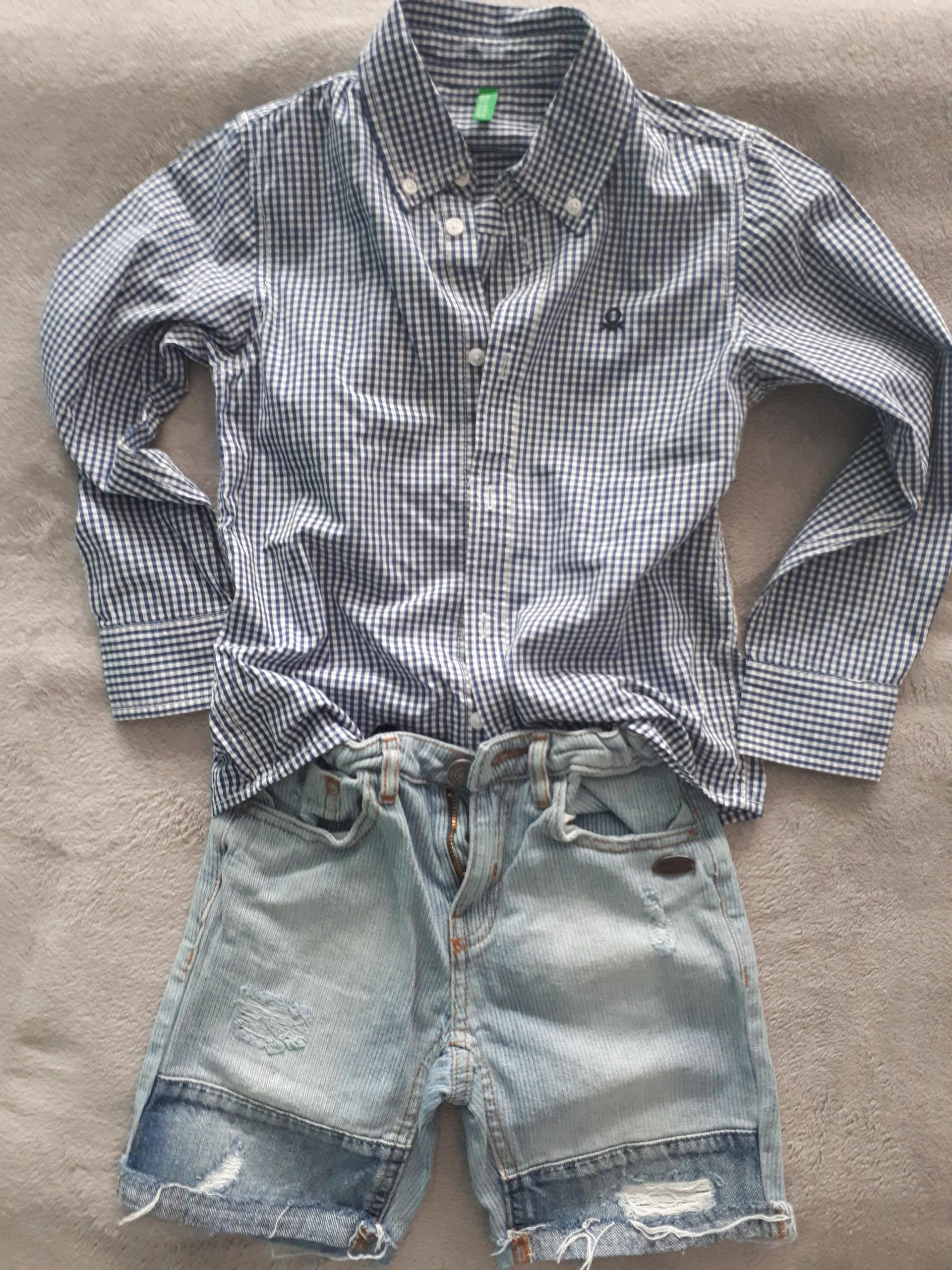 Koszula w karteczkę, idealna,6-7 lat