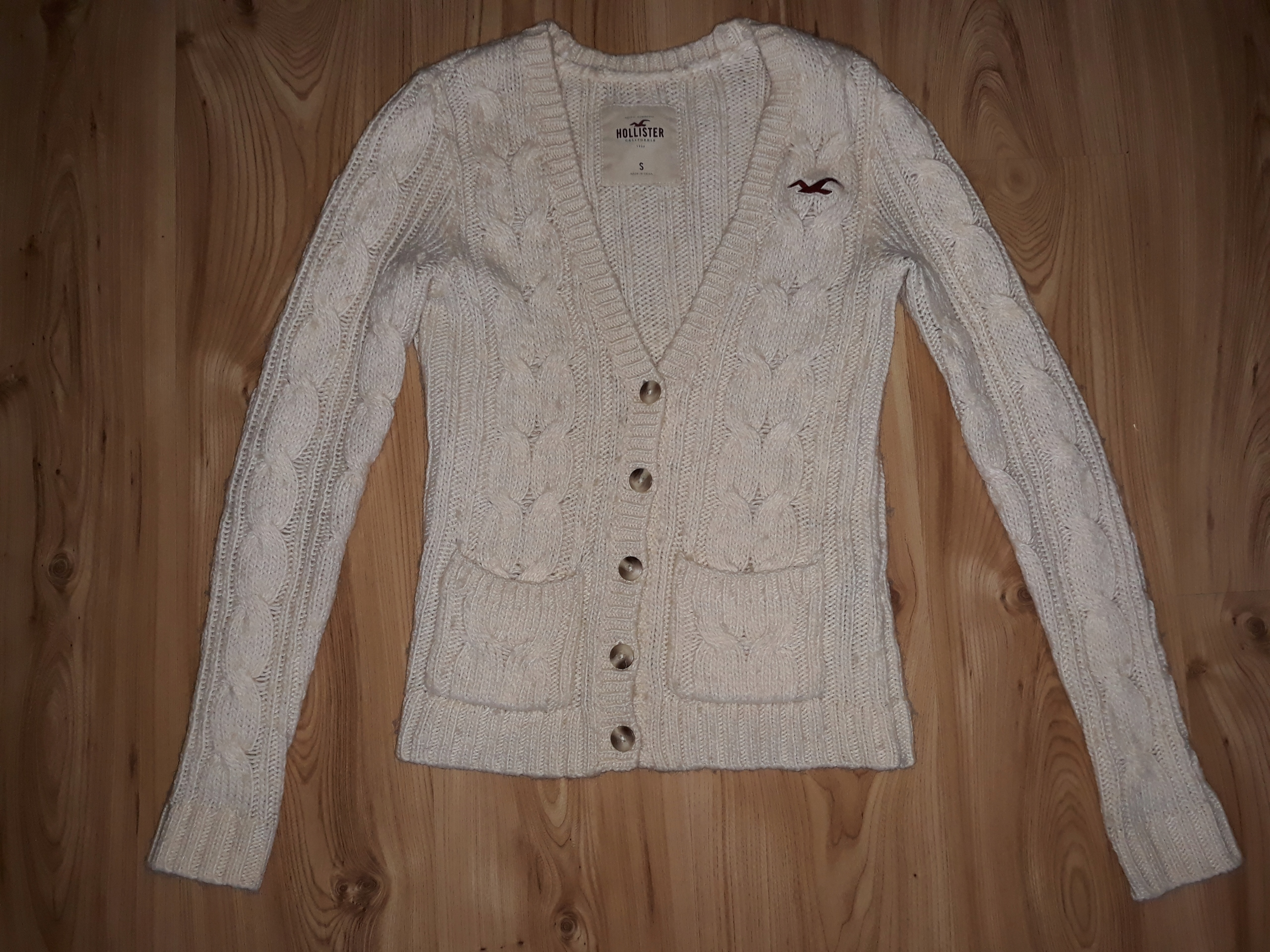 Ciepły sweter damski S Hollister California USA