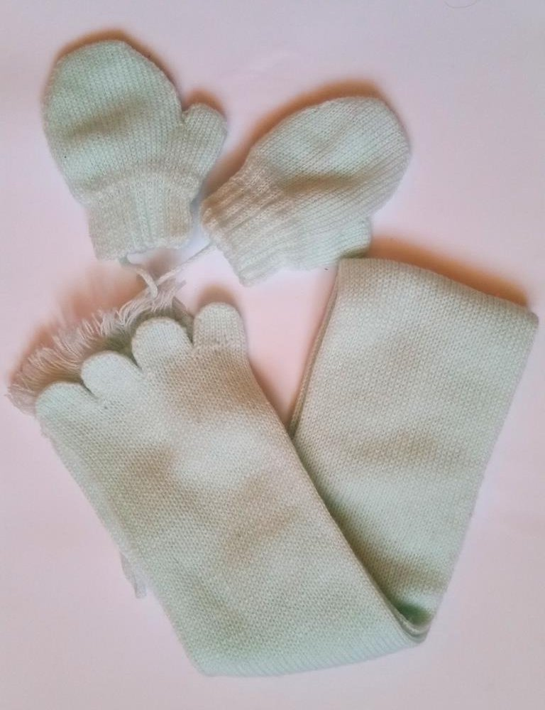 szalik + rękawiczki baby queen 3 6 miesięcy
