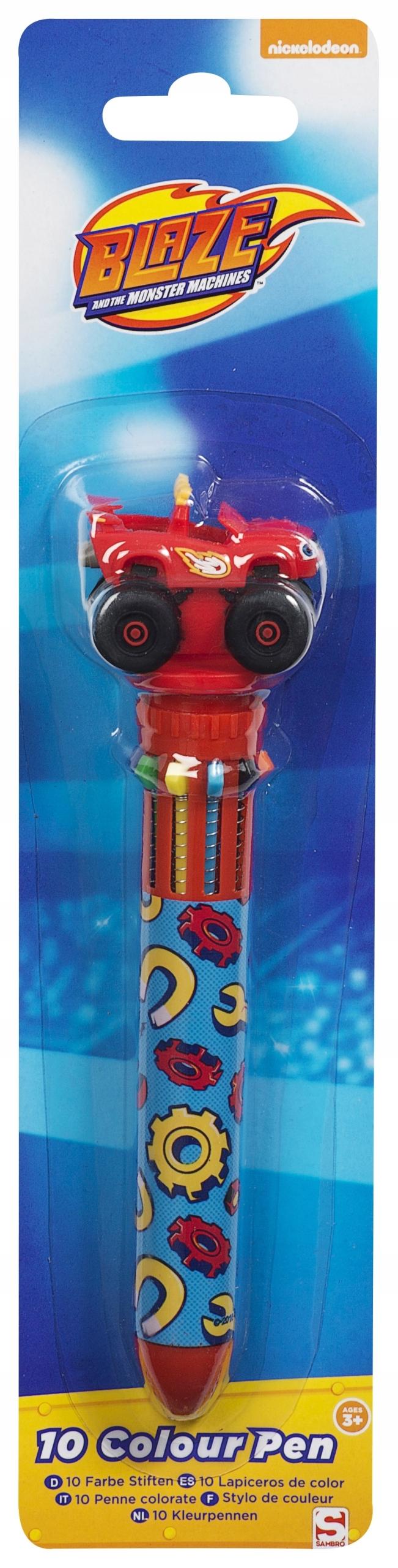 Sambro Długopis 10-cio kolorowy Blaze i Mega maszy