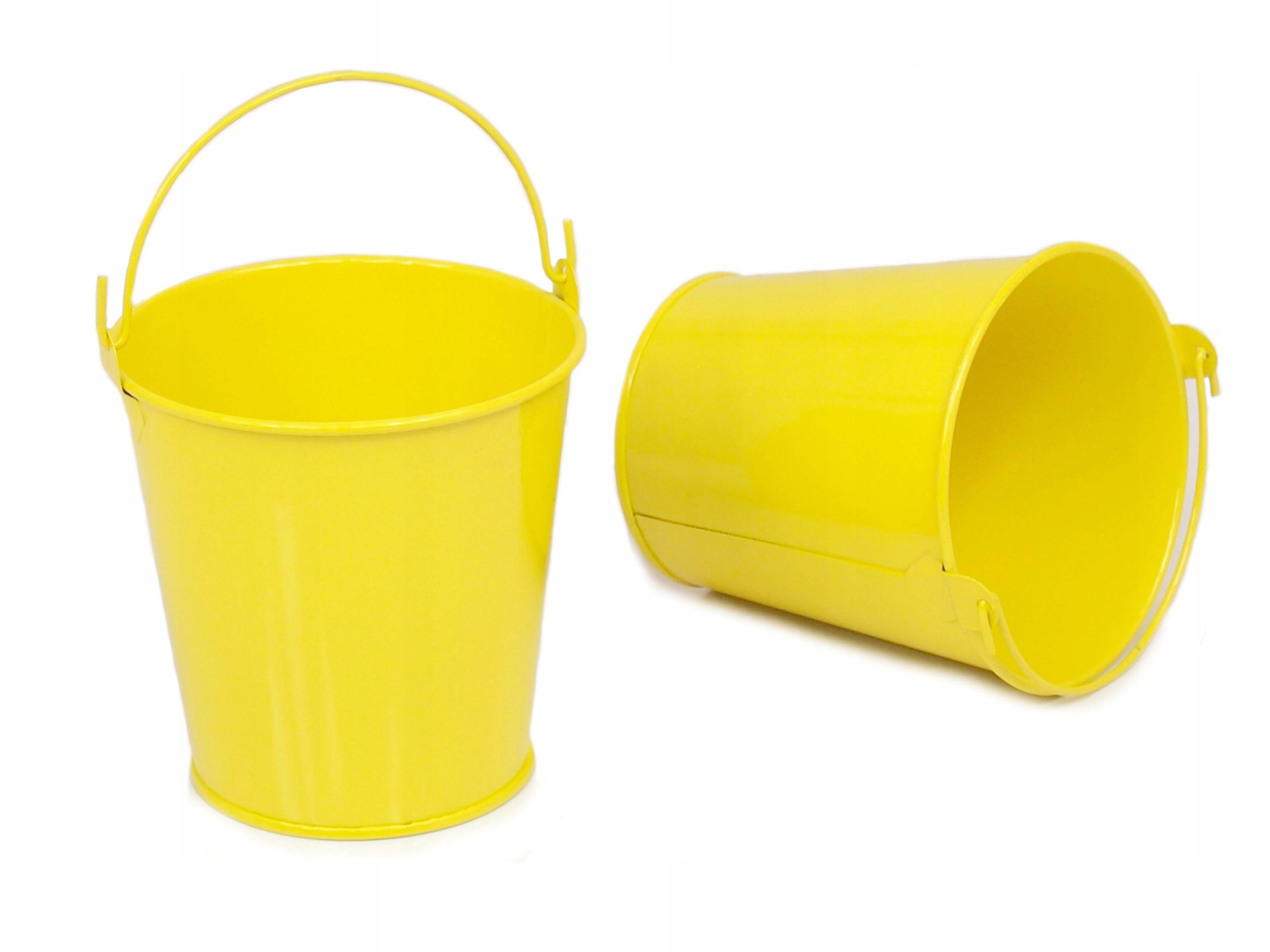 13 Cm Doniczka Osłonka Wiaderko żółte Przecena 7612761183