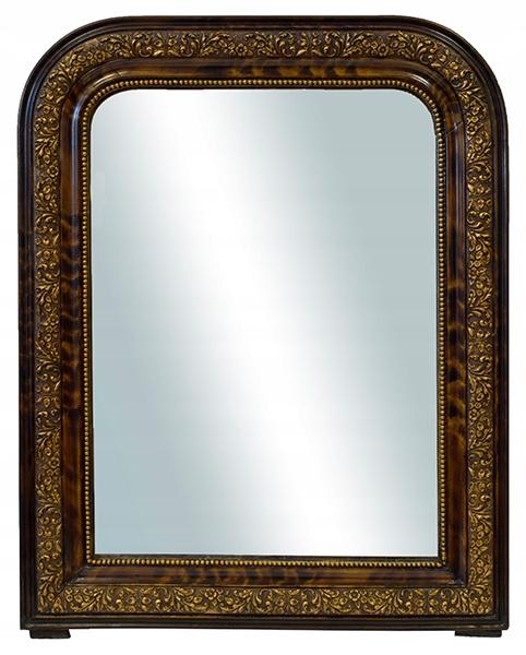 XIX w. francuskie ozdobne lustro 61x49 cm