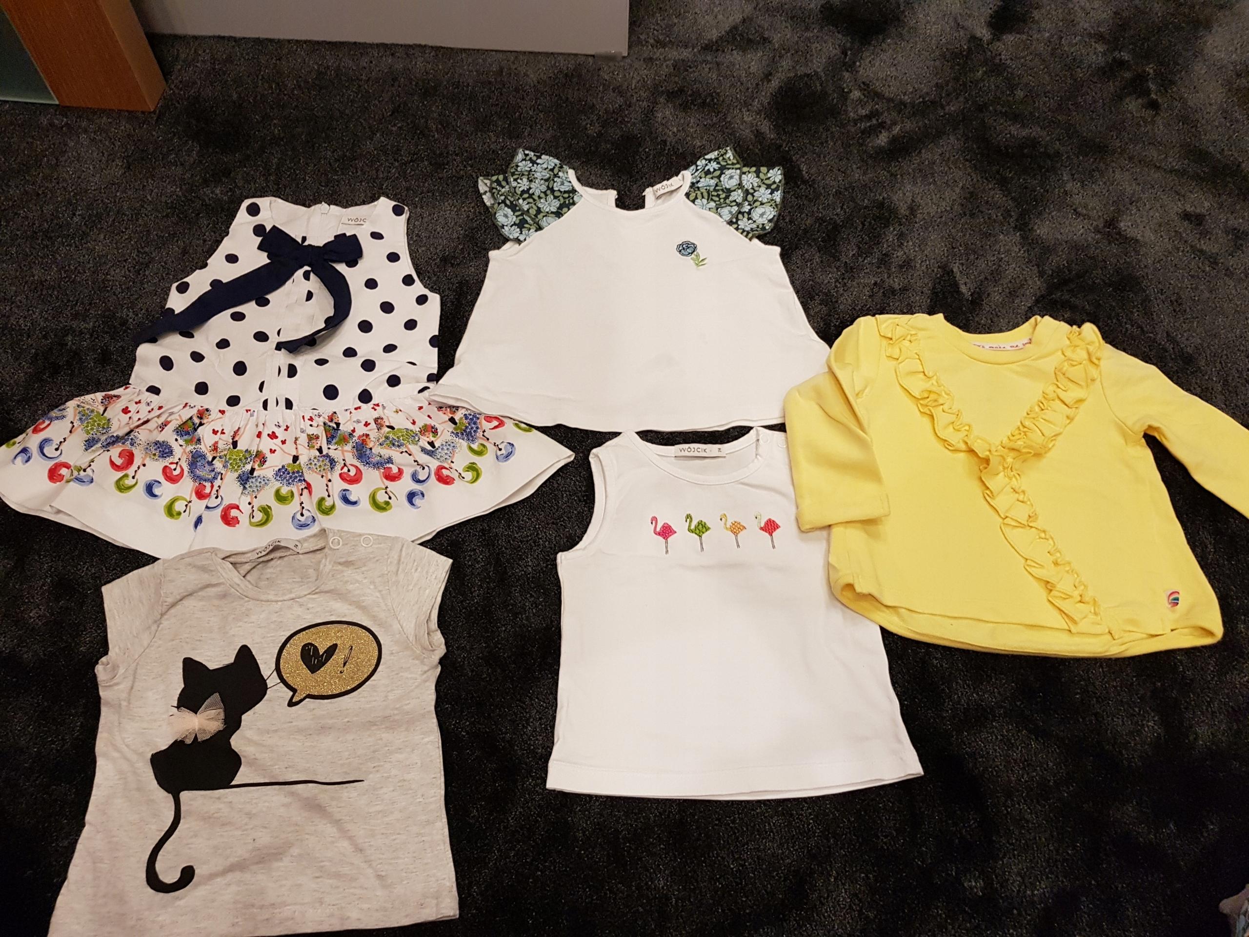Piękne ubranka dla młodej damy roz.74 Wójcik