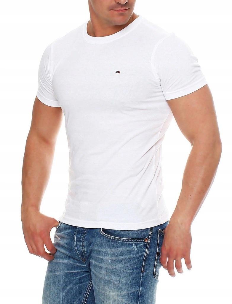 ORG. KOSZULKA T-SHIRT TOMMY HILFIGER WHITE roz XxL