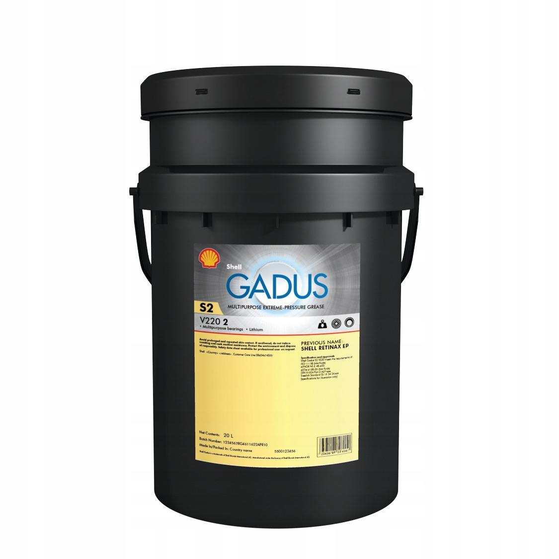 Smar Shell Gadus S2 V220 2 NLGI 2 18 kg