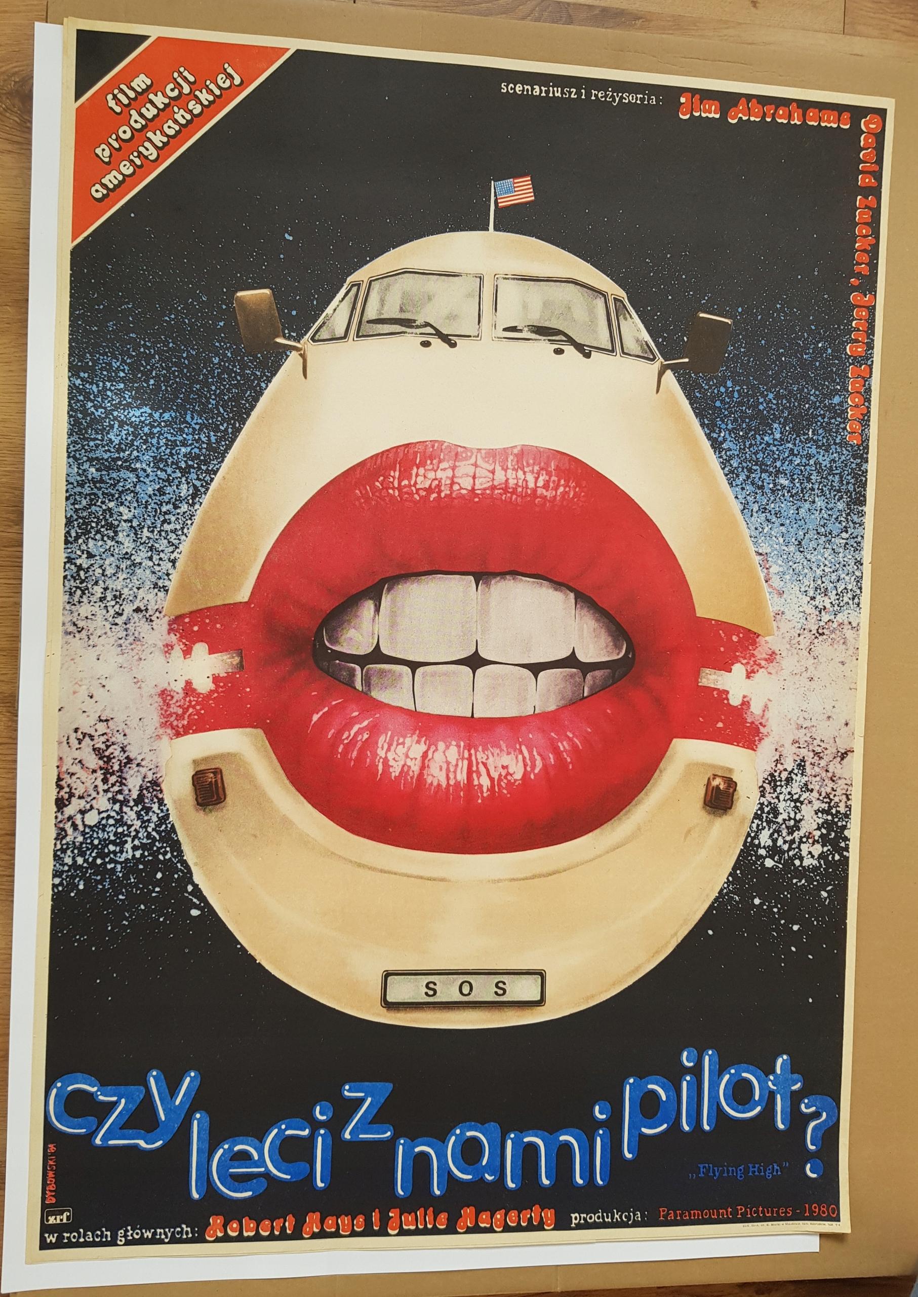 Plakat CZY LECI Z NAMI PILOT? - Dybowski '84