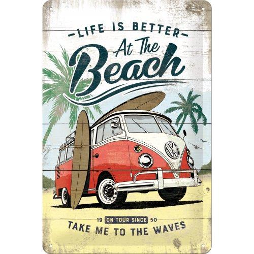 Metalowy Plakat Szyld Retro 20x30 Vw Bulli Beach