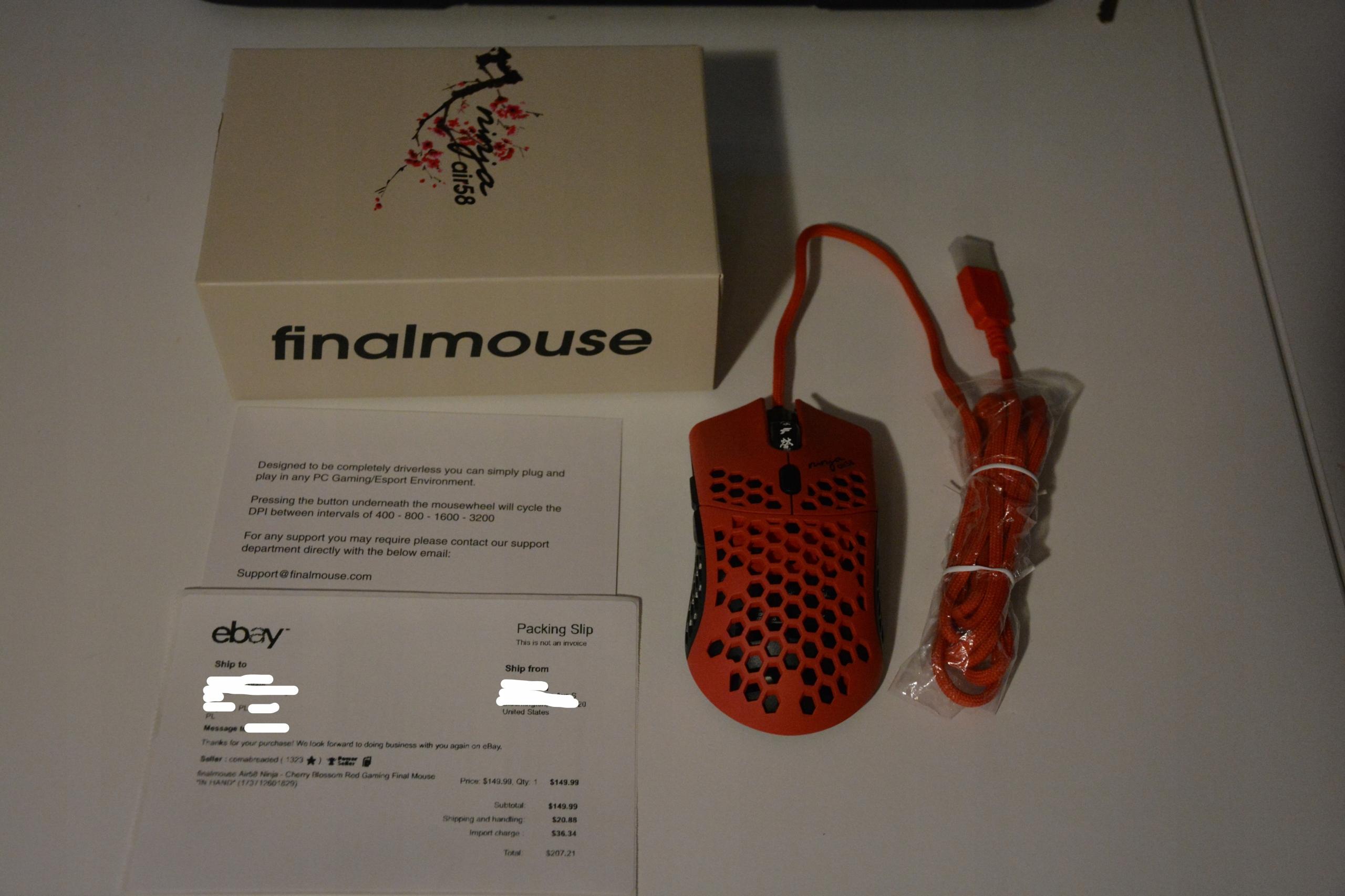 Finalmouse Air58 Ninja-Cherry Blossom Red *W ręce