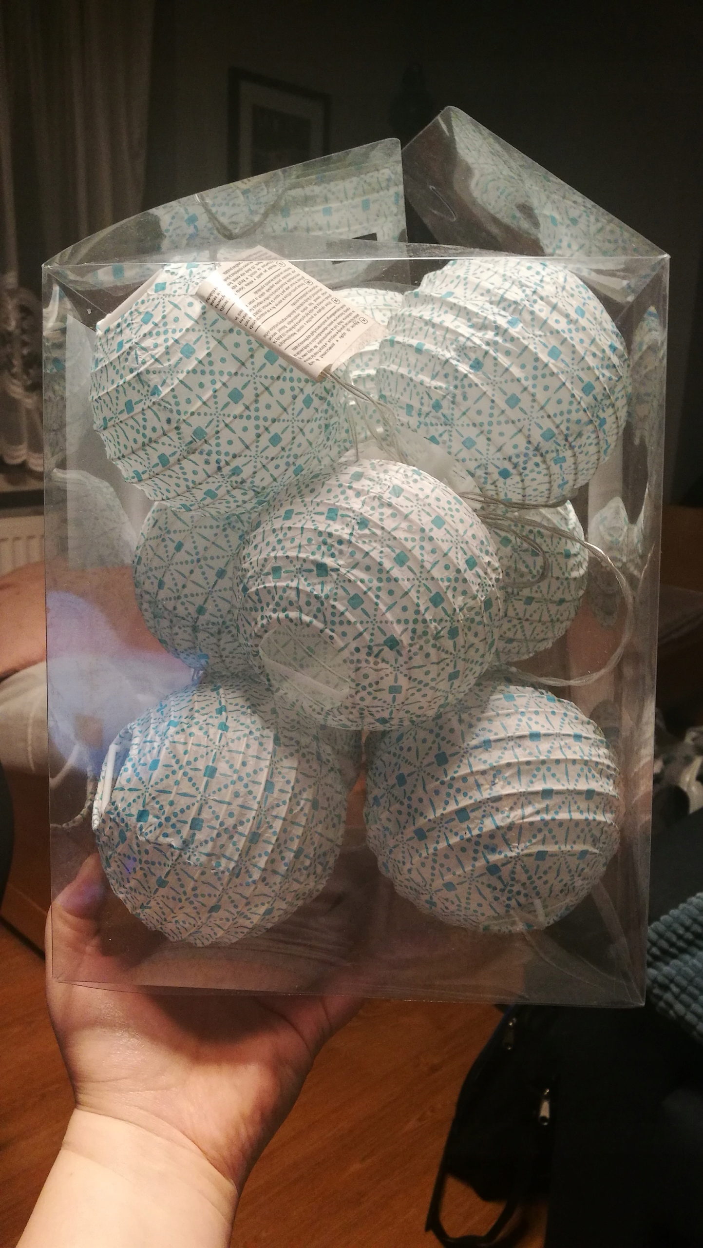 Cotton Balls Lampki Lampiony Papierowe Pepco