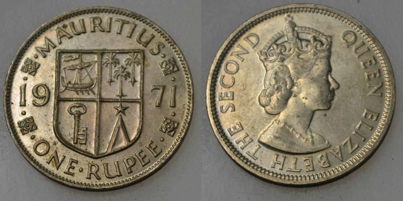 Mauritius 1 Rupia 1971 rok BCM