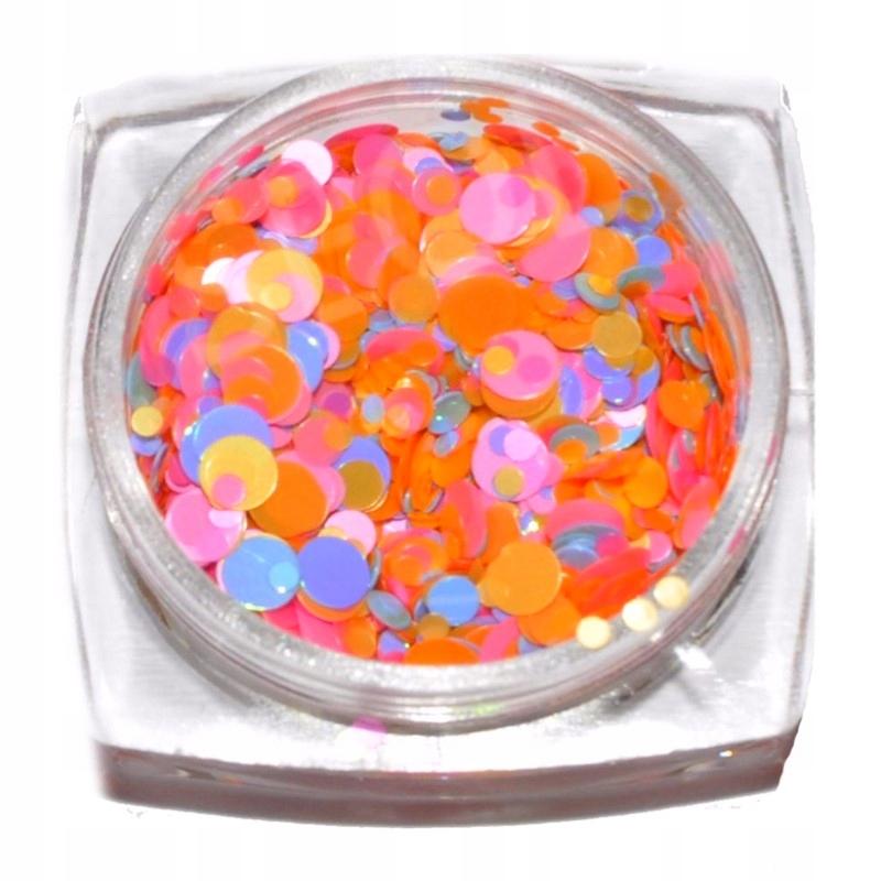 Piegi konfetti do paznokci kółka słoiczek - 10