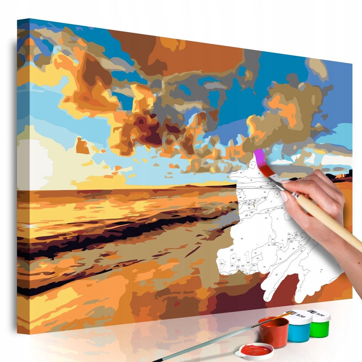 Obraz do samodzielnego malowania - Piękna plaża (R